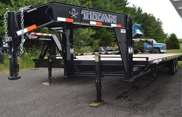 2015 Titan Trailers Ruff Neck Flatbed Trailer