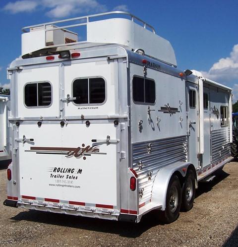 2005 Platinum Coach 2-H with LQ Horse Trailer