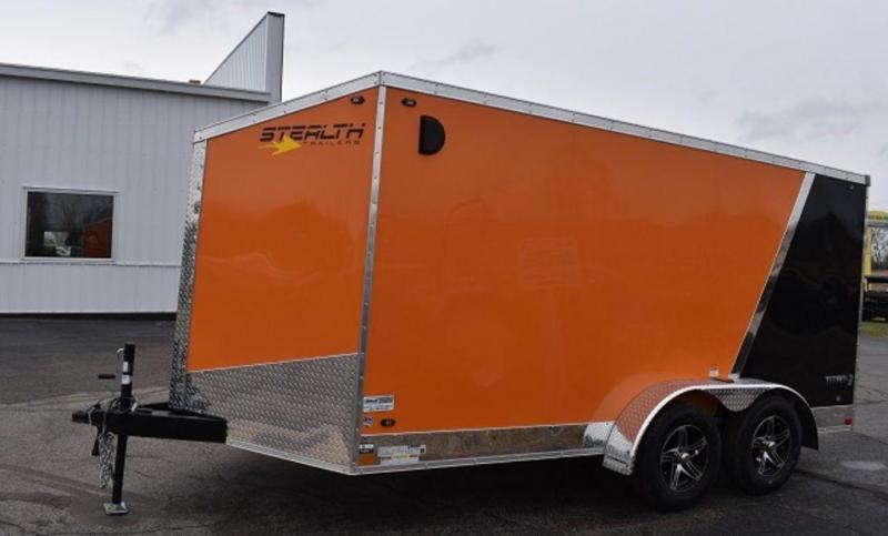 2020 Stealth Titan 7 x 14 Motorcycle Trailer