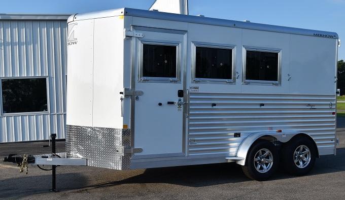 2020 Merhow Trailers Bronco XL Horse Trailer