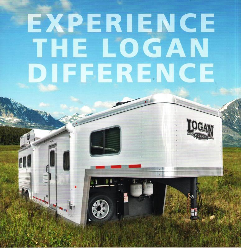 2018 Logan Coach 814 Limited Horse Trailer