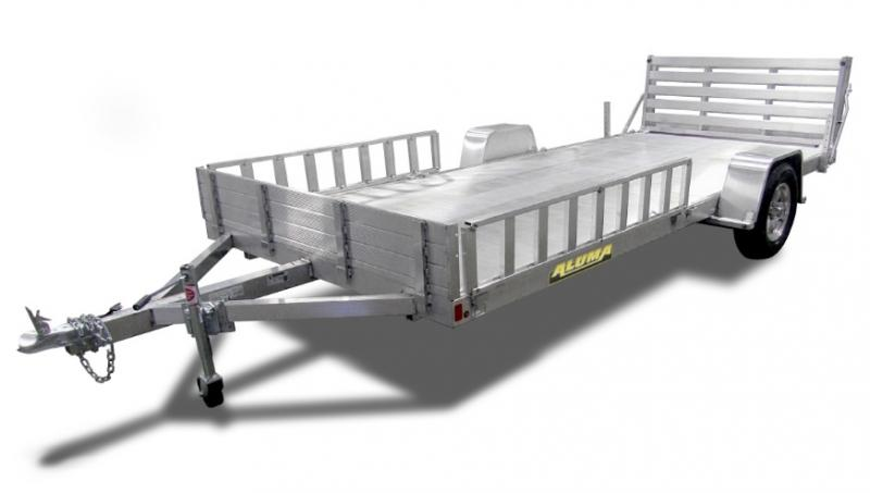 2020 Aluma 8115 Solid Sides / BiFold Tailgate Utility Trailer