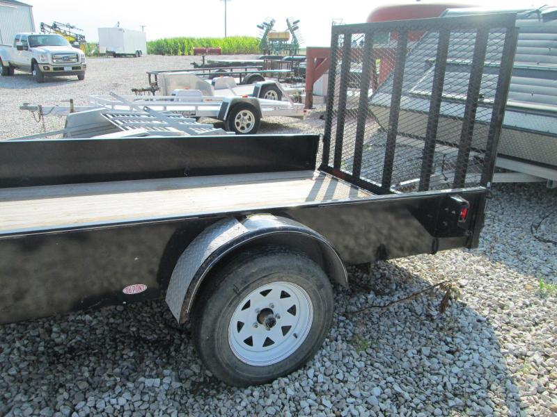 2006 H and H Trailer H H 76 X 12' Solid Side Single Axle Utility Trailer
