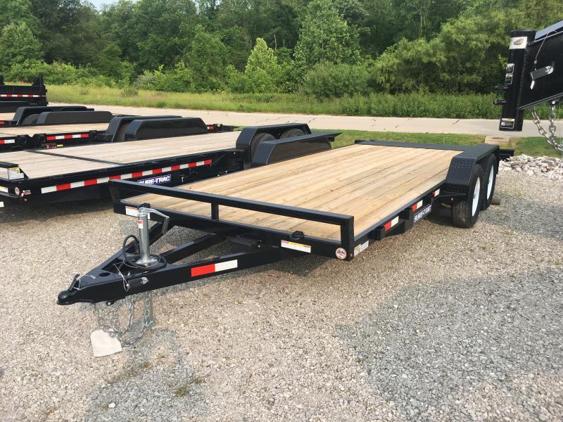 2019 Sure-Trac 7 X 18 Wood Deck Car Hauler  Flat Deck