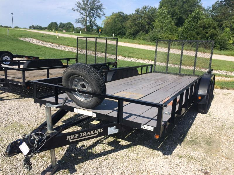 2014 Rice TD8218 Utility Trailer