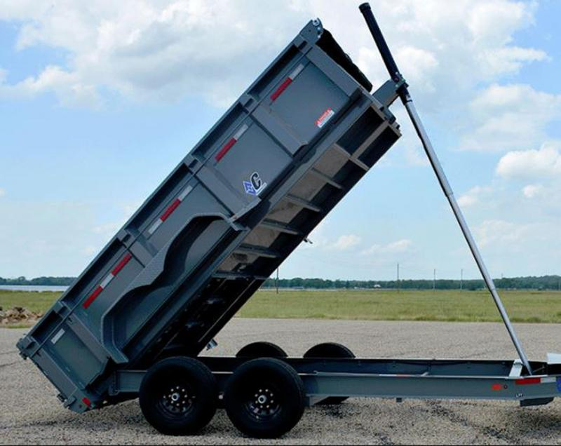"Diamond C 24LPT TELESCOPIC Low Profile Dump  44"" Sides Met. Silver"