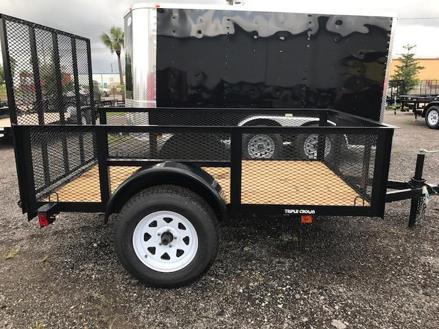 "TC 5 x 8 Utility Trailer with 24"" Mesh Sides"