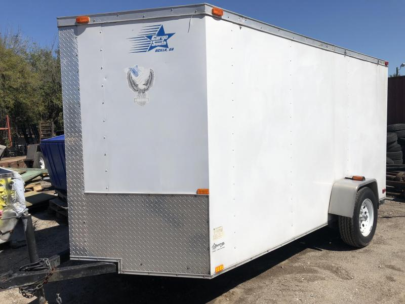 USED Cargo South 6x12 Enclosed Cargo Trailer Motorcycle