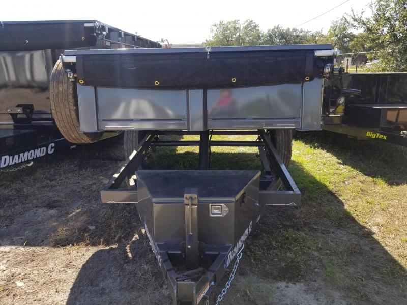 Diamond C 43ED 5 x 10 Dump Trailer Single Axle with Tarp