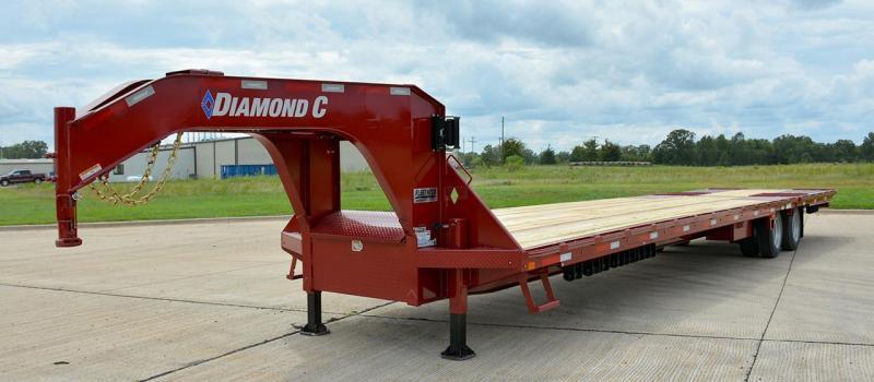 Diamond C FMAX216 Gooseneck Equipment Trailer 40' Air Ride
