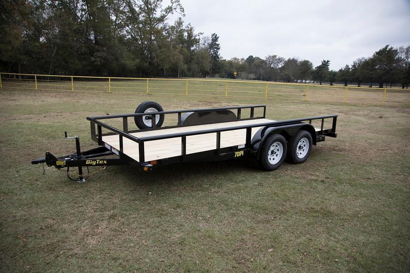 Big Tex 70PI-18' Trailers Utility Pipe Top Lanscape