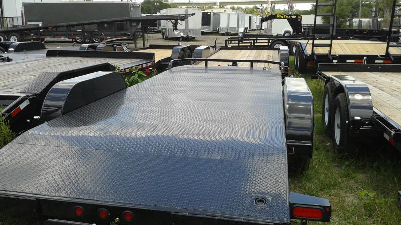 70DM Big Tex Car Hauler Diamond Plate Deck