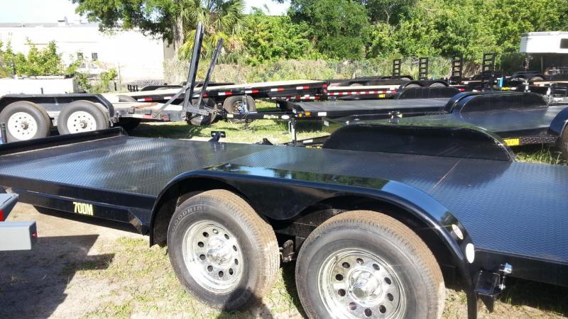 70DM Big Tex Car Hauler Diamond Plate Deck