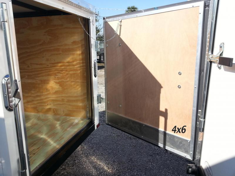 Arising 4x6 Enclosed Cargo Trailer Luggage Storage