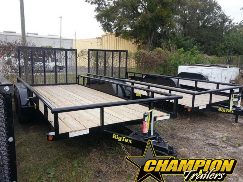 "Big Tex 77"" x 16' w/ 4' ramp gate Utility Landscape Trailer"