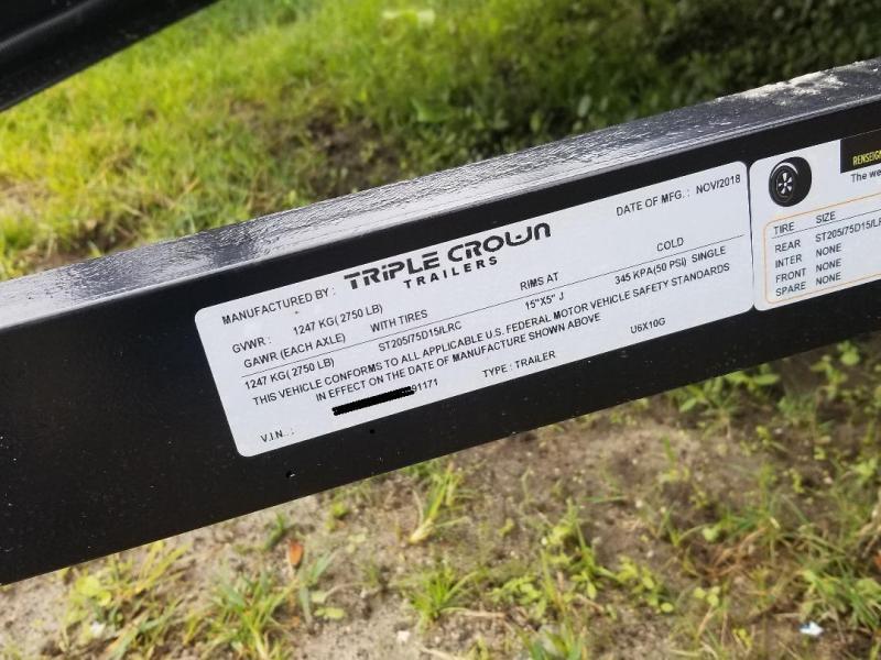 2019 Triple Crown Trailers 6x10 Utility Trailer