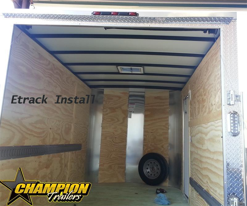 Arising 7 x 12 Enclosed Trailer Cargo Trailer Tandem Axle