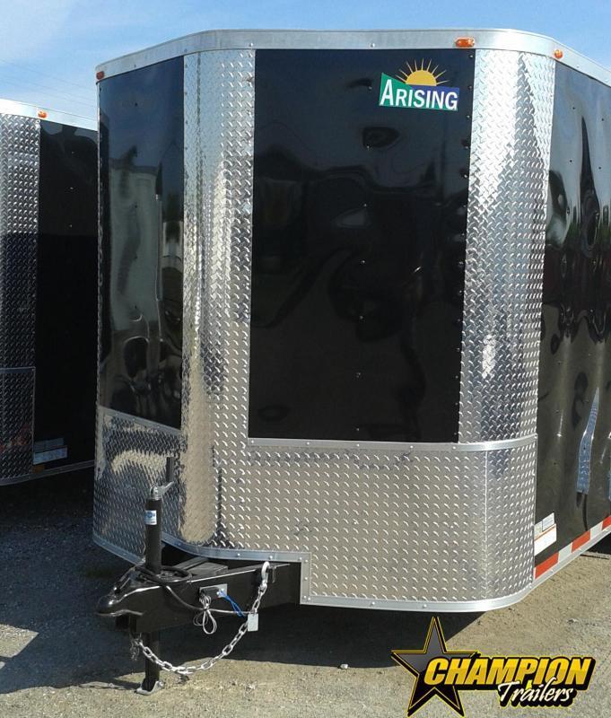 Arising 7 x 12 Enclosed Trailer Cargo Trailer Tandem Axle