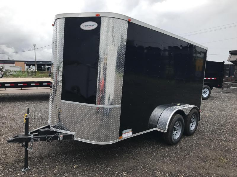 6x12x6 Arising Enclosed Trailer Motorcycle