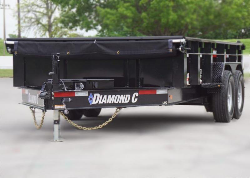 """Diamond C Trailers 24LPD 82""""x14 44"""" Sides Dump Trailer Lanscape  Hualing"""