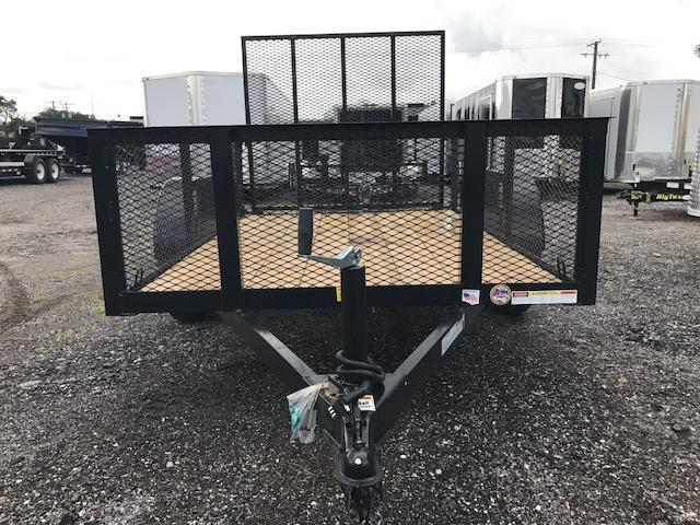 "TC 5 x 10 Utility Trailer with 24"" Mesh Sides Landscape"