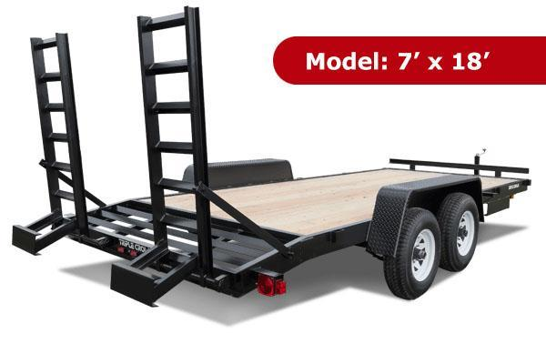 TC 7 x 16 Equipment Trailer with slide in ramps