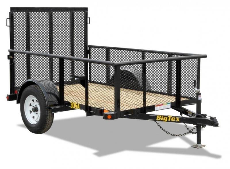 Big Tex 77x12' Utility Trailer Mesh 2' Sides