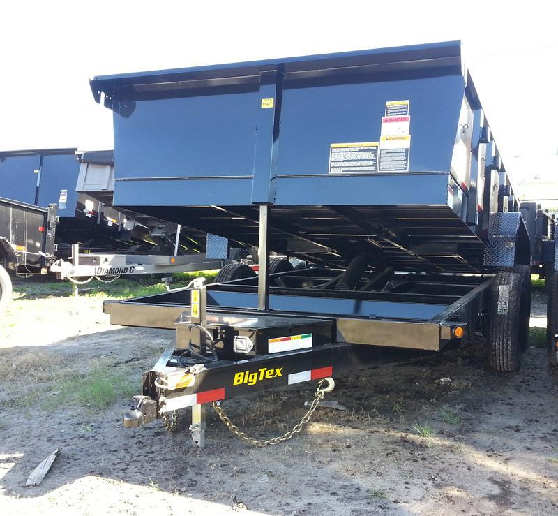 Big Tex 14LX-16' Dump Trailer with Ramps