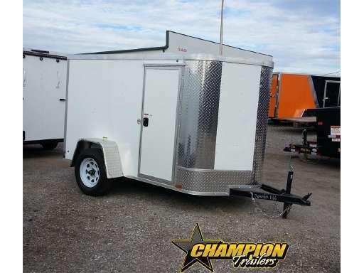 Arising 5x10 Enclosed Cargo Trailer Motor Cycle Storage