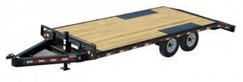 PJ 22' I- Beam deckover flatbed trailer