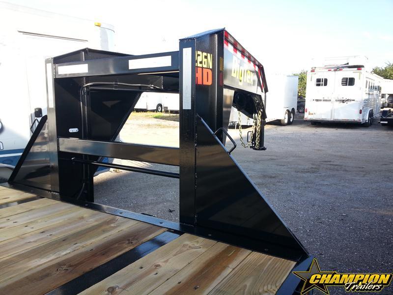 Big Tex TrailersGooseneck Tandem Dual Equipment Hauler Trailer 28' Gooseneck Trailer