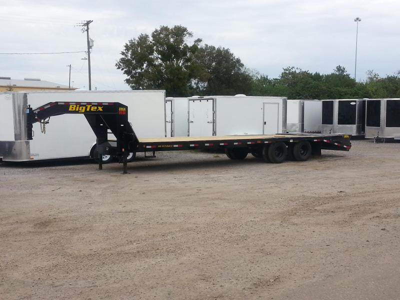 Big Tex TrailersGooseneck Tandem Dual Equipment Hauler Trailer 28' Gooseneck Trailer