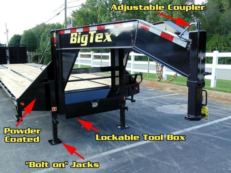 Big Tex 22GN 28'+5' Gooseneck Tandem Dual Equipment Hauler Trailer 33' Gooseneck Trailer