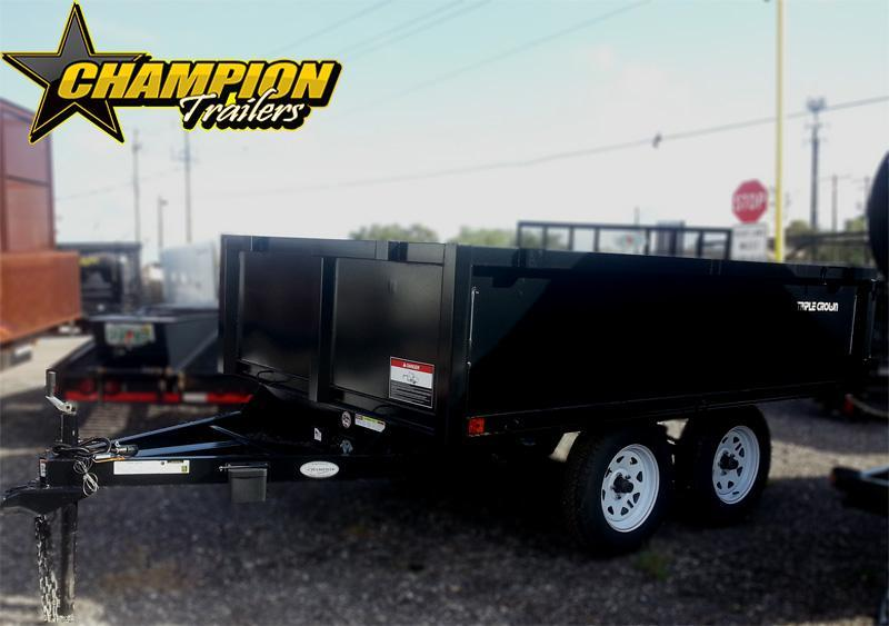 2019 Triple Crown Trailers 6x10 Dump Dump Trailer