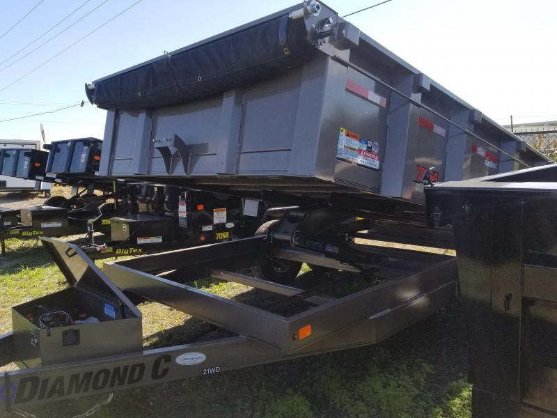 "Diamond C 82"" x 14' Dump Trailer"