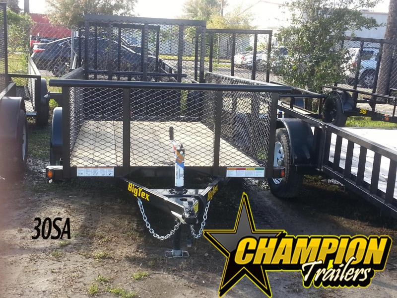 Big Tex 5 x 8 Utility Trailer with 2' Mesh Sides