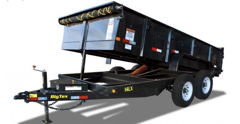 Big Tex Trailers 14LX-14BK-HJ Dump Trailer with Ramps
