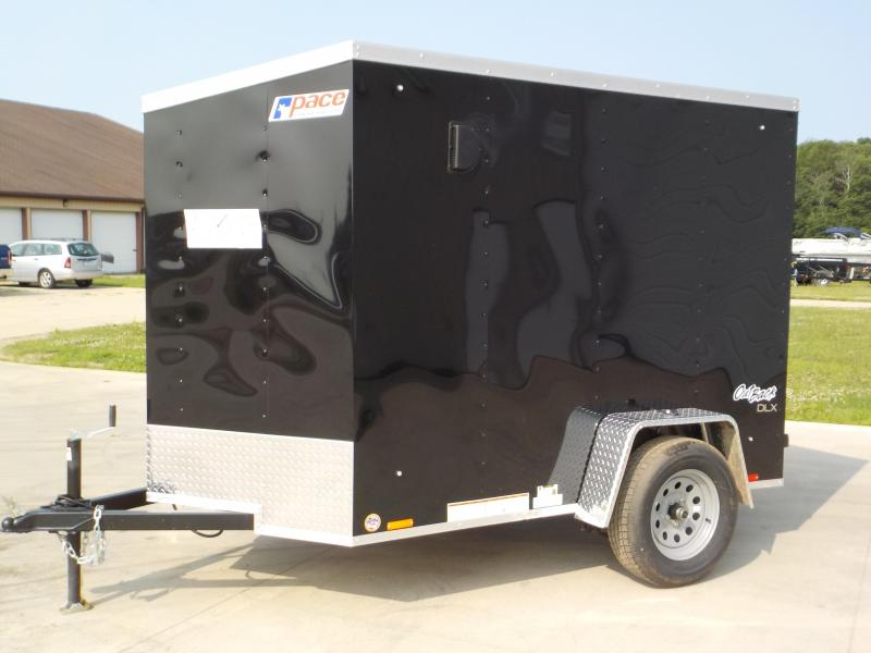 2020 Pace American Outback Deluxe 5 X 8 Enclosed Cargo Trailer