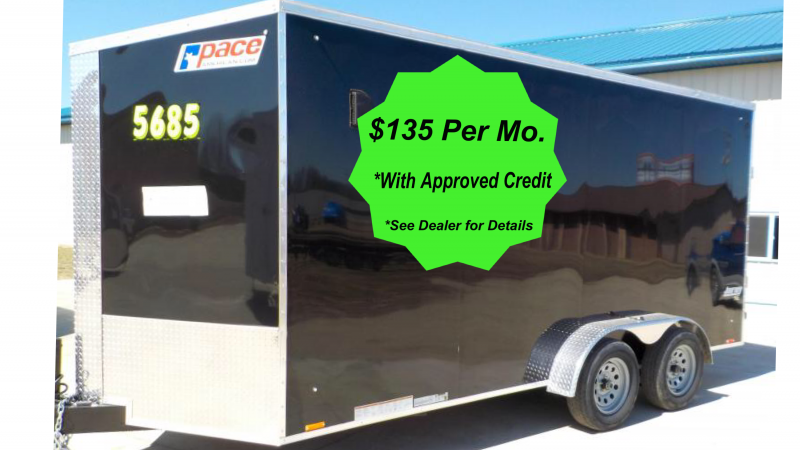 a pace american journey 2020 se 7x16 enclosed cargo trailer