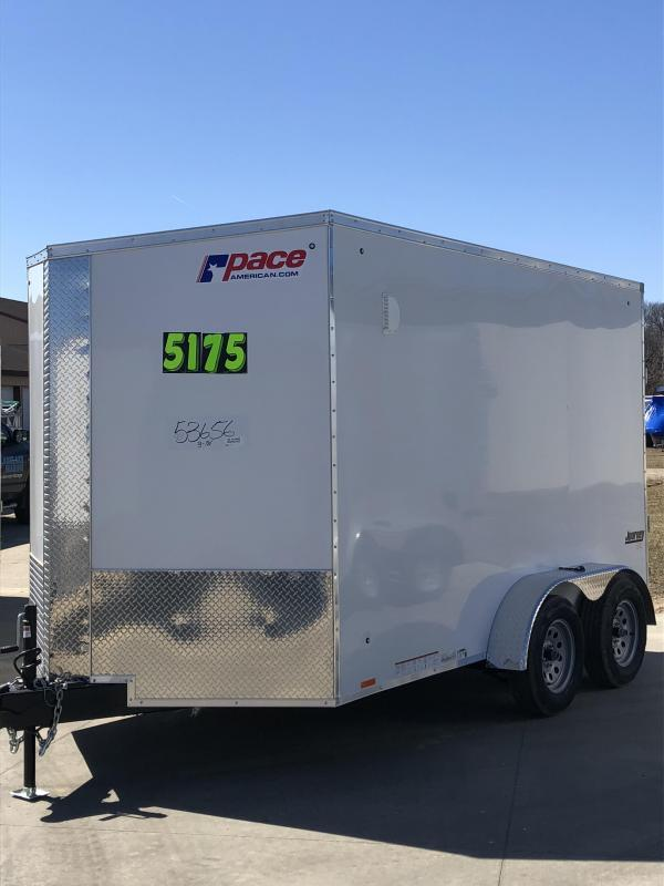 2020 Pace American Journey SE 7X12 Enclosed Cargo Trailer