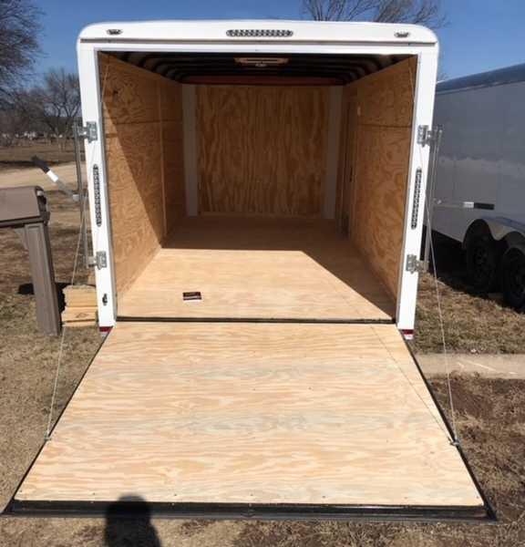 Lark Cargo Trailer 7x16  Ramp door side door