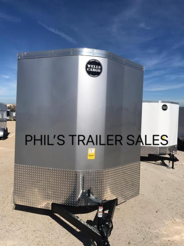 2019 Wells Cargo 7X16 + V 7 FT interior COMMERCIAL GRADE ROAD FORCE Enclosed Cargo Trailer