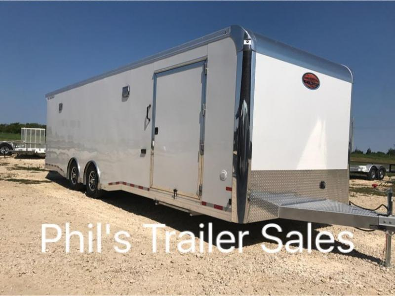 2018 24 ALL ALUMINUM 7 ft Escape door Car / Racing Trailer