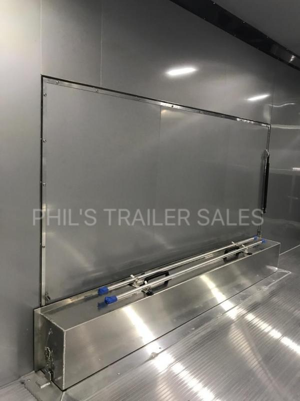 2018 24 ALL ALUMINUM 7 ft Escape door Car / Racing Trailer