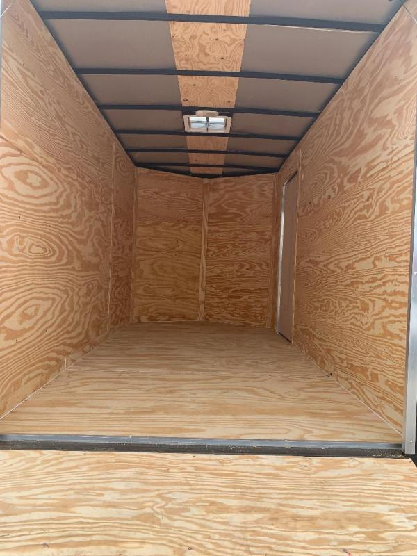 "Texas Select 7x14 2 v nose 6'6"" interior Enclosed Cargo Trailer"