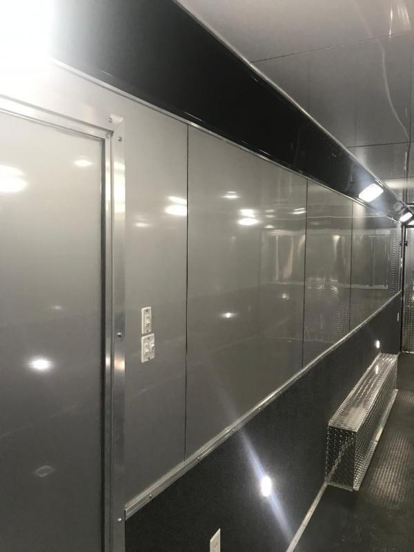 30' Haulmark Edge Car / Racing Trailer LOADED Cabinets down the side wall