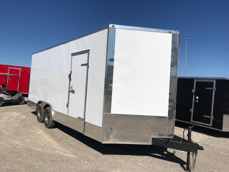85x20 + 2 v nose 7 FT INTERIOR  Car hauler Enclosed Cargo Trailer