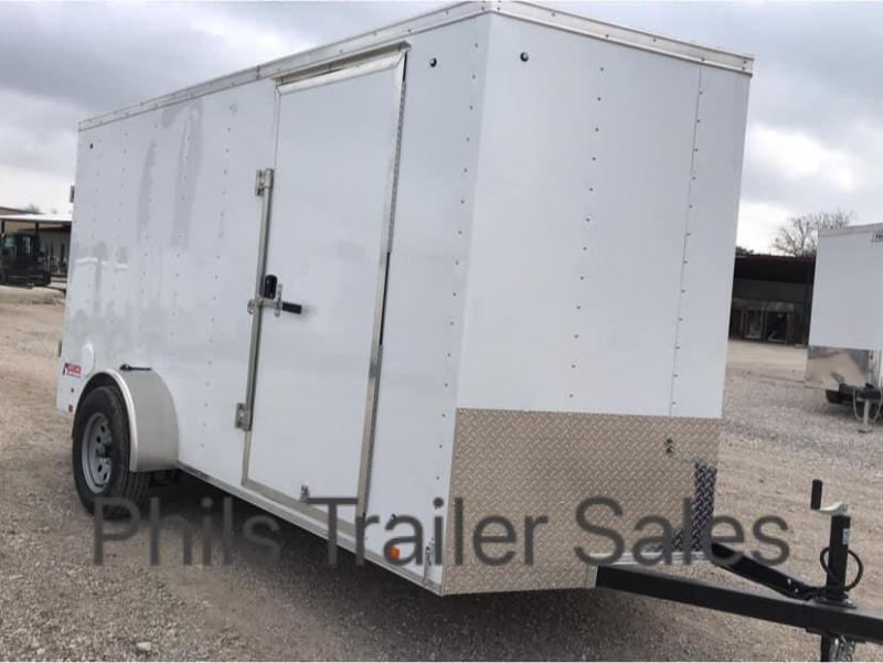 """6x12 + 24"""" v nose  Pace American ramp Enclosed Cargo Trailer"""