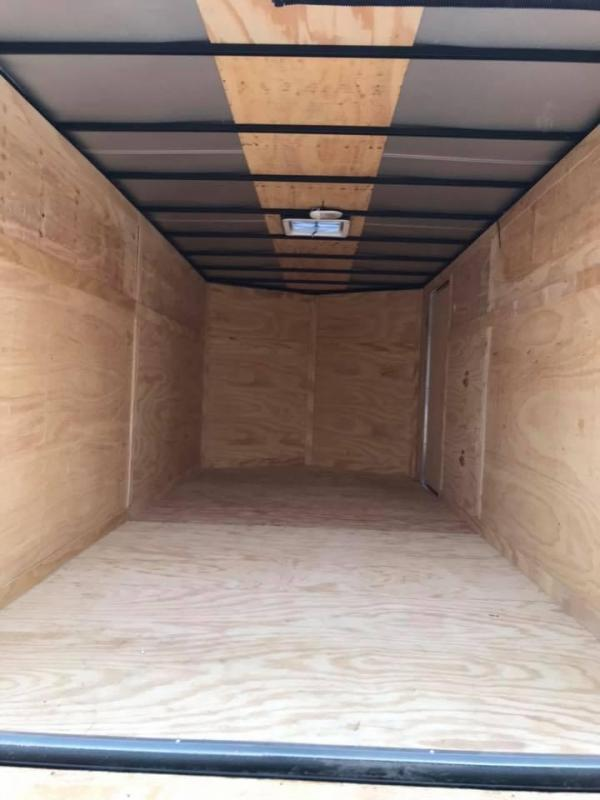 "Texas Select 7x14 2 v nose 6'6"" CHARCOAL  Enclosed Cargo Trailer"
