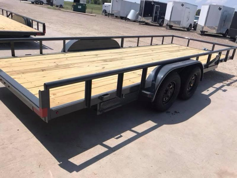 2019 83X16 Lamar Trailers CHANNEL FRAME Flatbed Trailer